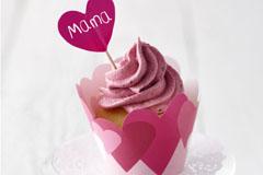 Vanille-Muffins mit Beerencreme zum Muttertag