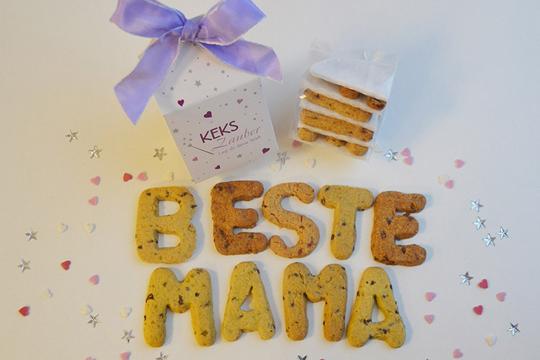 "Muttertagsgeschenk: Buchstabenkekse ""Beste Mama"""