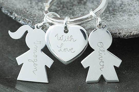 Muttertagsgeschenk: personalisierter Schlüsselanhänger