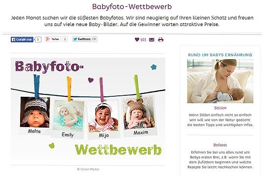 Neu auf familie.de: Mitmach-Aktionen