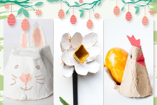 Basteln mit Eierschachteln