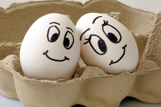 Ostereier bemalen: Eiergesichter