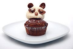 Panda-Cupcakes backen