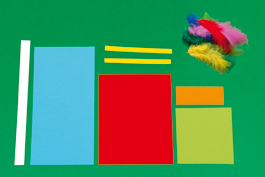 Papagei basteln aus Papier: Schritt 1