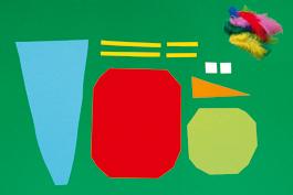 Papagei basteln aus Papier: Schritt 2