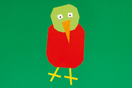 Papagei basteln aus Papier: Schritt 4