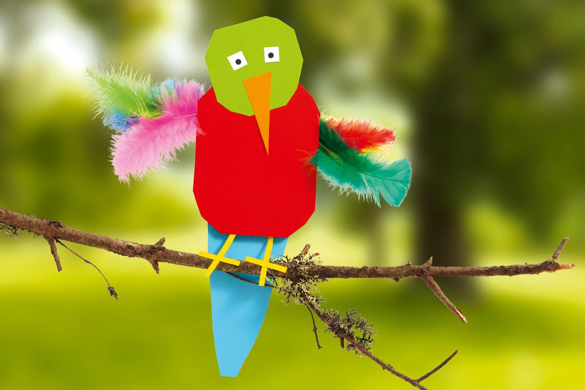Papagei Basteln Aus Papier Familiede