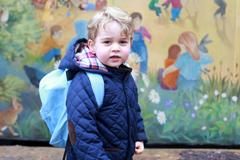 Prinz Georges erster Kindergartentag