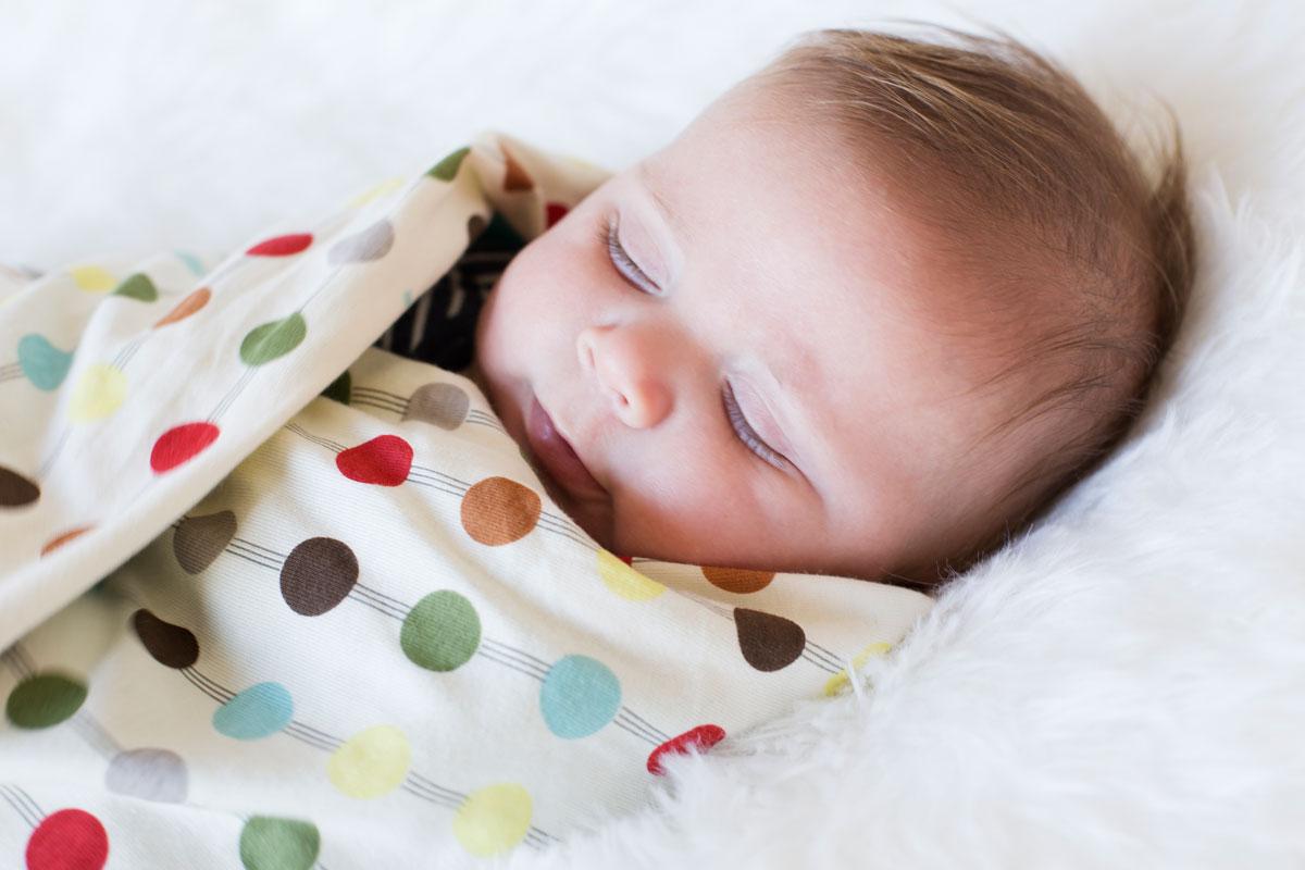 Gepucktes Baby