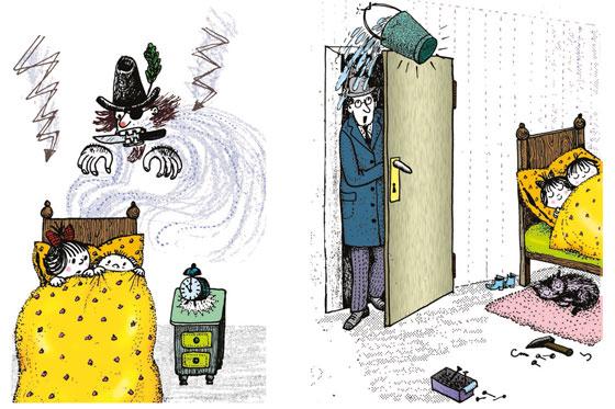 Illustration Wie man sich vor Räubern schützt Walter Reiner/Traudel Reiner