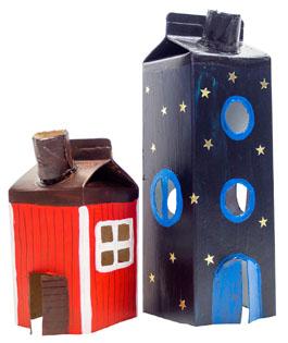 r ucherh uschen aus tetrapak basteln. Black Bedroom Furniture Sets. Home Design Ideas