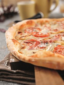 Rezept: Apfel-Schinken-Pizza