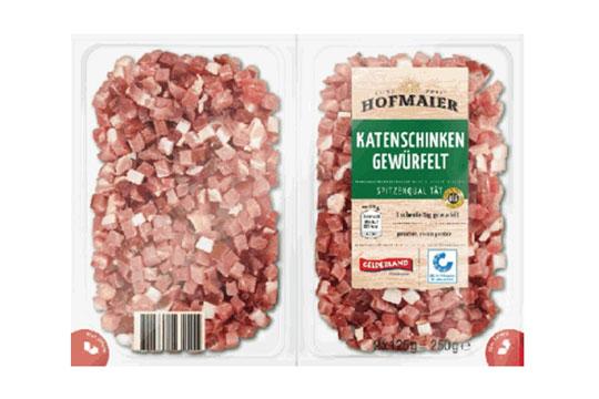 """Katenschinken gewürfelt der Marke GELDERLAND """"HOFMAIER"""""""