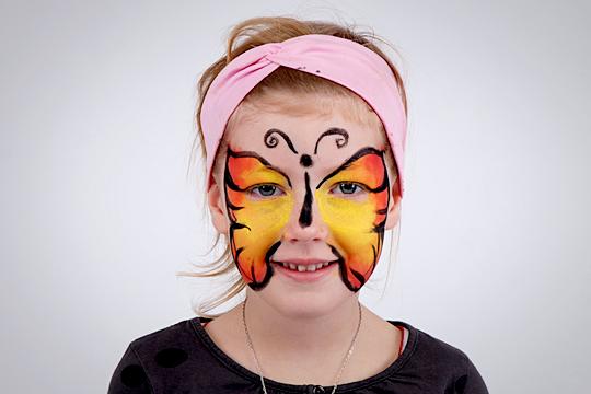 Schmetterling Schminkanleitung Umrisse