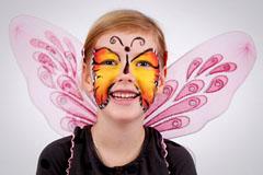 Schmetterling schminken - Anleitung