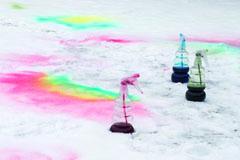 Schnee farbe herstellen