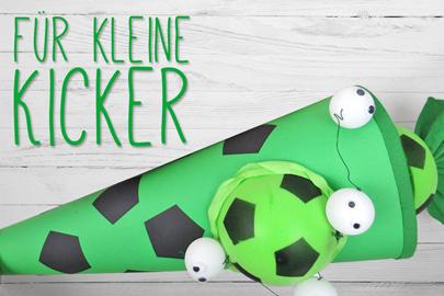 Fußball-Schultüte nachbasteln