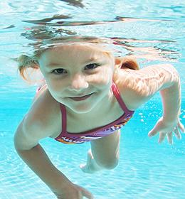Schwimmen lernen: tauchen
