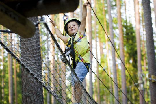 Tipps für Ausflüge mit Kindern: Hochseilgarten