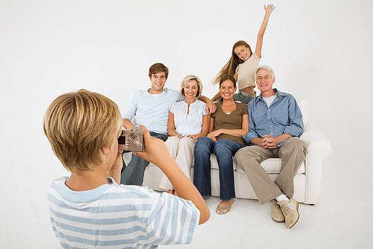 Silvester mit Kindern: Familienfoto