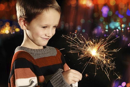 Silvester mit Kindern: Wunderkerzen