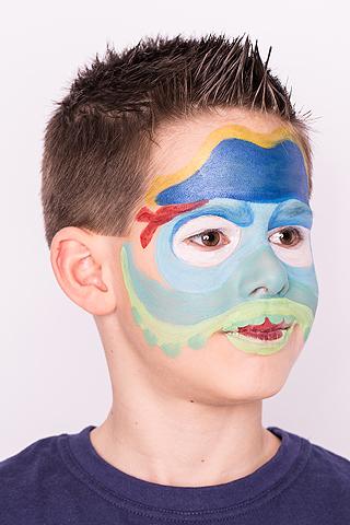 Skylanders Wash Buckler schminken: Schritt 4