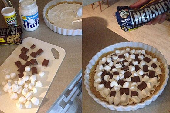 s mores pie rezept