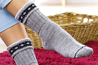 Socken mit Jacquard-Umschlag
