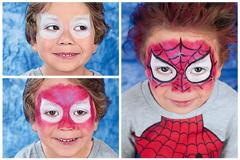 So schminken Sie Ihr Kind als Spiderman