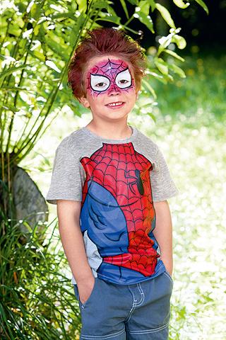 Spiderman Schminkanleitung: Harrstyling