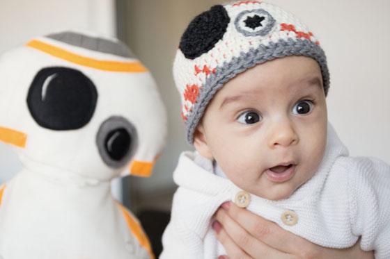 Star Wars Bb8 Babymütze Häkeln Familiede