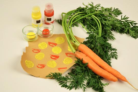 Stempel selber machen mit Karotten