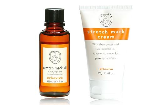 Stretchmark Oil + Cream von Erbaviva gegen Schwangerschaftsstreifen