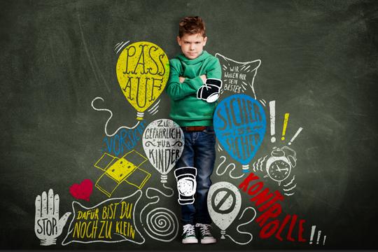 gestresste Kinder haben zu wenig Freiraum
