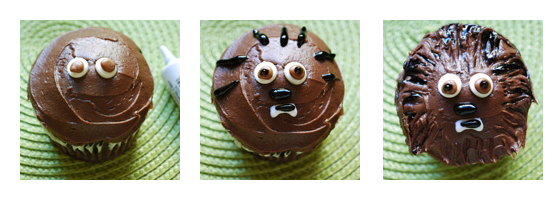 Star Wars Kuchen: Wookie Cupcakes