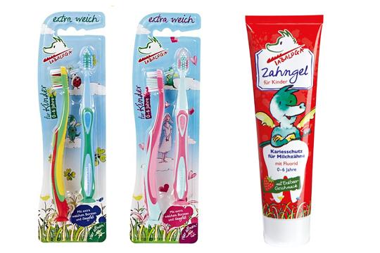 Tabaluga Zahnpflegeprodukte