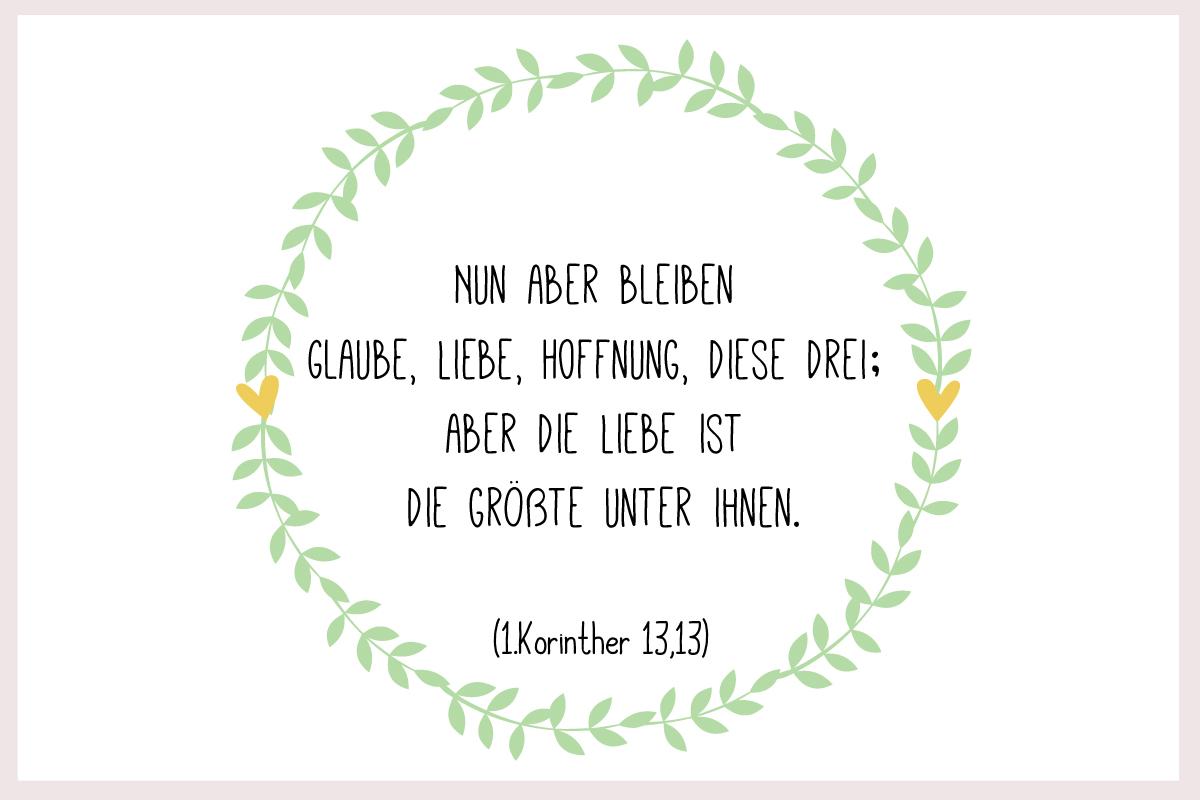 Taufspruch 1.Korinther 13,13