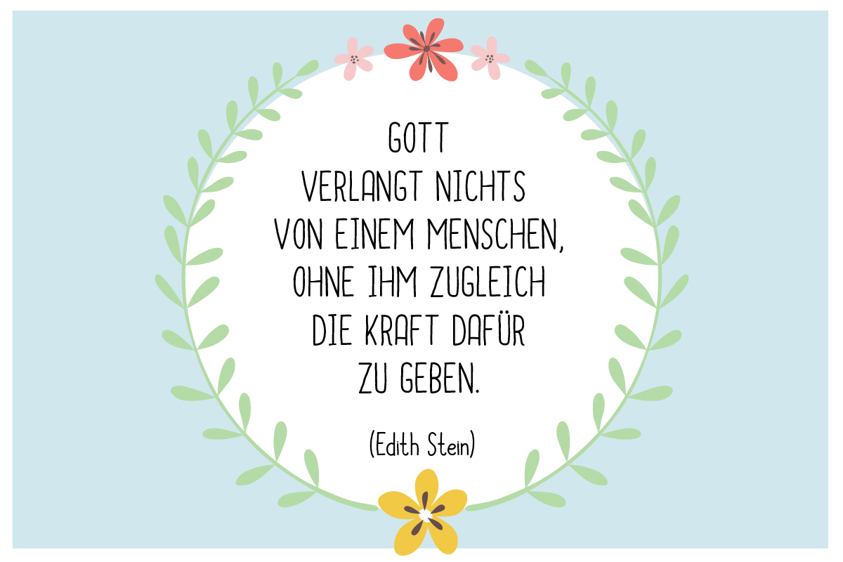 Taufspruch von Edith Stein