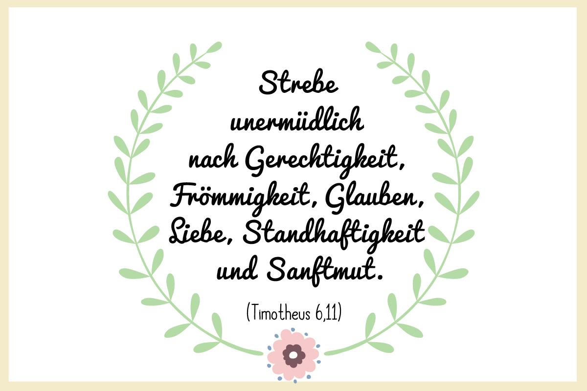 Taufspruch Timotheus 6,11