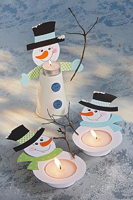 Ein Teelicht Schneemann Fur Weihnachten Familie De