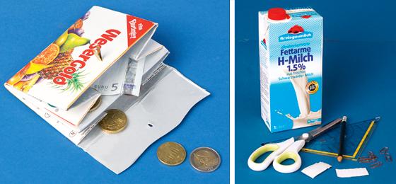 portemonnaie basteln ein geldbeutel aus tetrapak. Black Bedroom Furniture Sets. Home Design Ideas