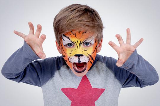 Kinderschminken: Tiger schminken
