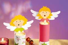 Engelchen-Tischdeko basteln