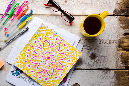 Übungen gegen Stress: Malen