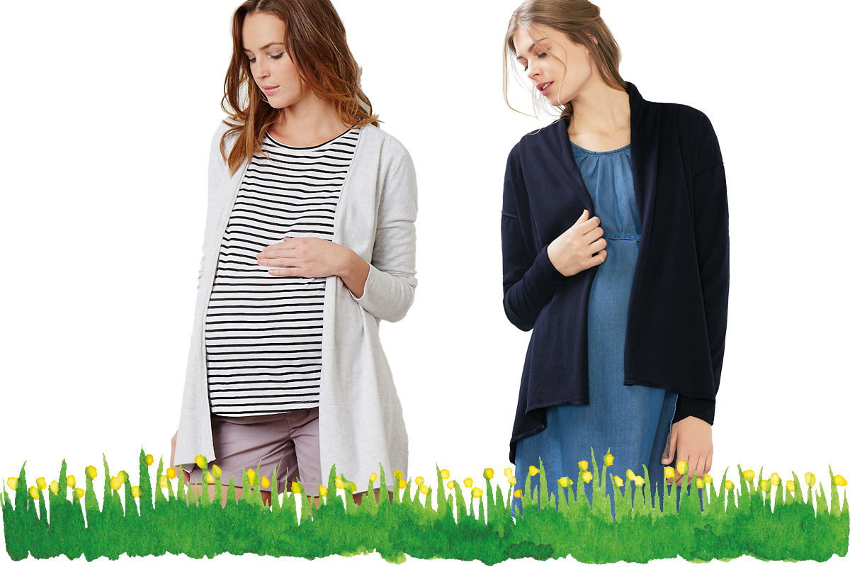 Umstandsmode Frühling 2017: Jersey Cardigans