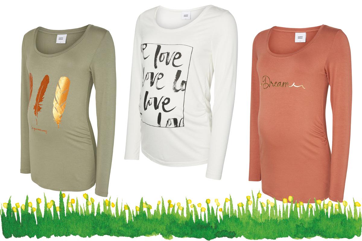 Umstandsmode Frühling 2017: Umstandsshirts mit Print