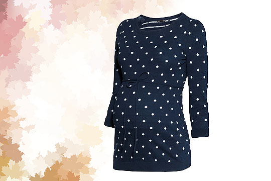 Gepunkteter Feinstrick-Pullover von H&M für den Herbst 2014