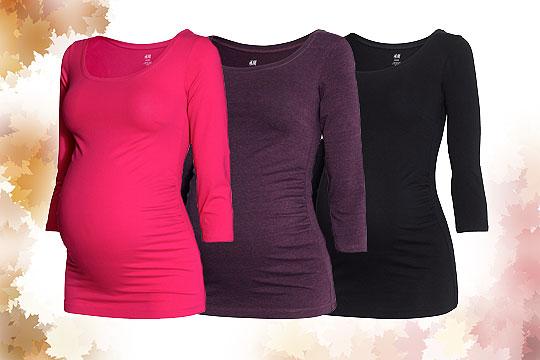 Bequeme Basic-Umstandsshirts von H&M in kräftigen Farben