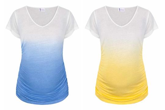 Umstandsmode Sommer 2016: Ombré-Shirt von Paulina