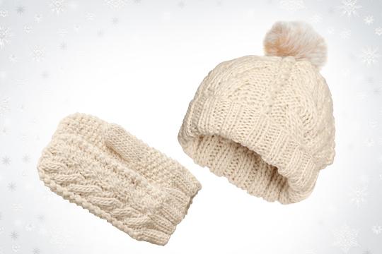 Umstandsmode Winter 2014: Mütze und Handschuhe